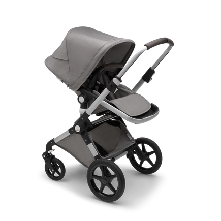 US - Lynx aluminum, Mineral Light Grey & Bassinet & Turtle