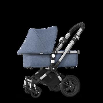 EU - Cameleon 3+ Seat and Bassinet stroller blue melange sun canopy, blue melange fabrics, aluminium base