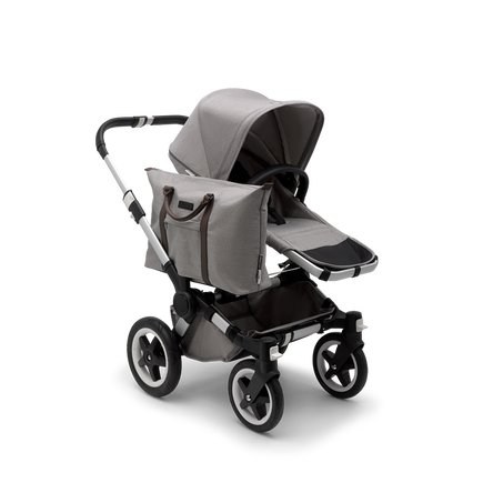 US - D2M stroller bundle aluminum, mineral light grey
