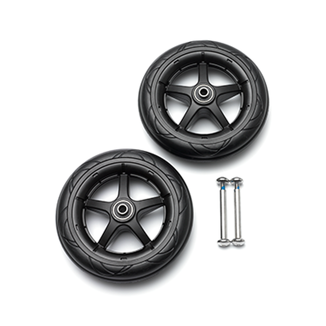 Bugaboo Bee 5 front wheels replacement set  Black