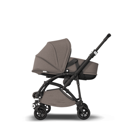 US - B5 bassinet bundle black, mineral taupe