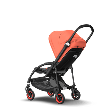 UK - Bee 5 seat stroller Coral collection, black chassis
