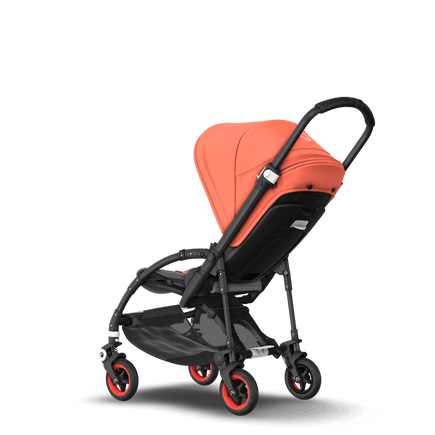 EMEA - Bee 5 seat stroller Coral collection, black chassis