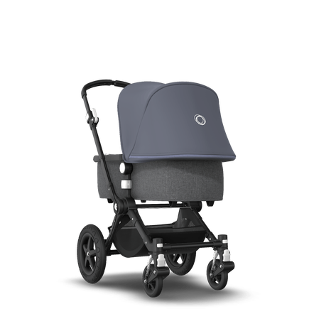 EU - Cameleon 3+ Seat and Bassinet stroller steel blue sun canopy, grey melange fabrics, black base
