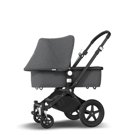 Bugaboo Cameleon 3 Plus seat and bassinet stroller grey melange sun canopy, grey melange fabrics, black base