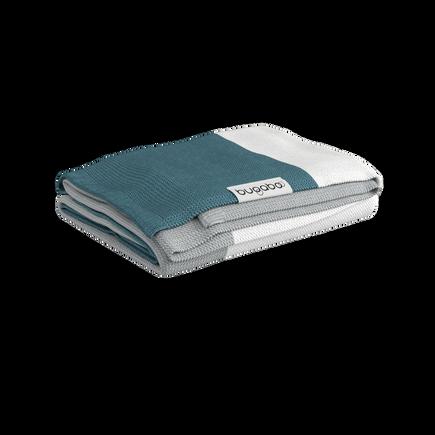 Bugaboo Light Cotton Blanket - PETROL BLUE MULTI