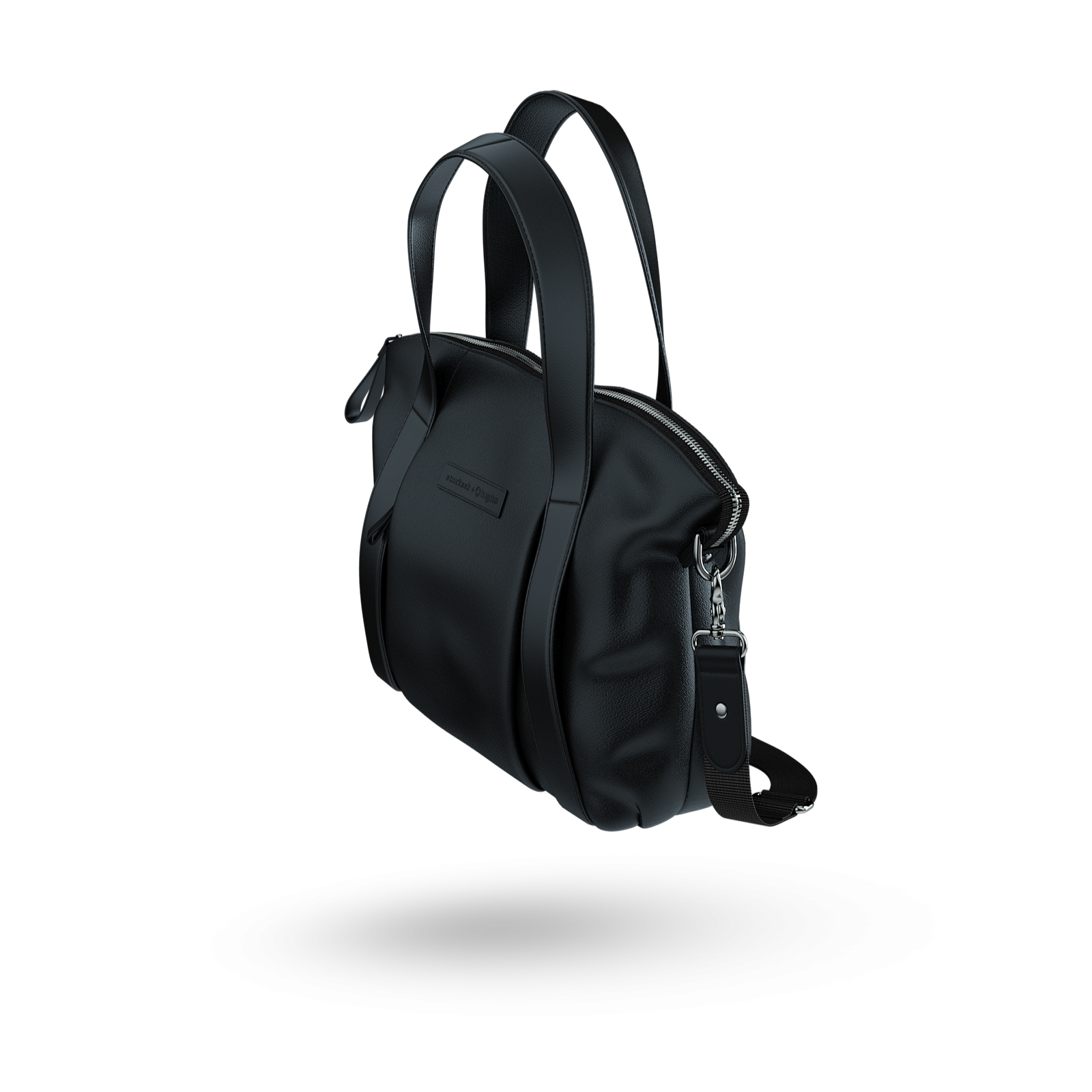 Storksak + Bugaboo leather bag BLACK