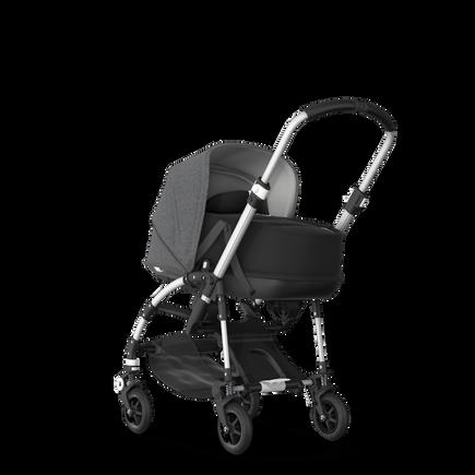 US - B5 bassinet bundle aluminum, black, grey melange