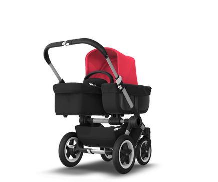 US - D2M stroller bundle aluminum, black, neon red