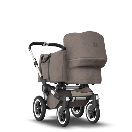 UK Bugaboo Donkey 2 Mono Seat and bassinet Mineral taupe melange, Aluminium Chassis