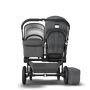 UK Bugaboo Donkey 2 Duo Classic Grey Melange, Black Chassis