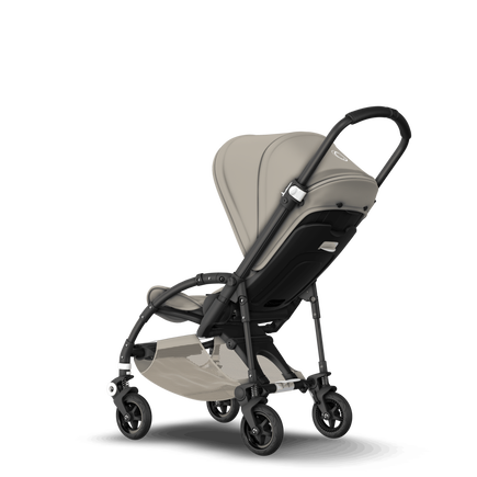 Bugaboo Bee 5 seat stroller classic collection khaki sun canopy, classic collection khaki fabrics, black base