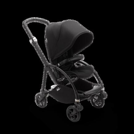 Bugaboo Bee 6 seat stroller black sun canopy, black fabrics, black base