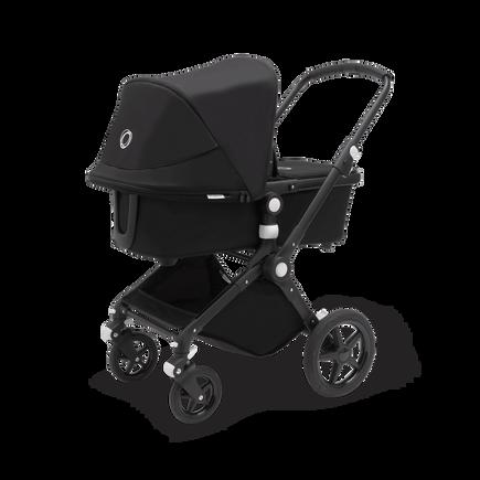 Bugaboo Lynx bassinet and seat stroller black sun canopy, black fabrics, black base