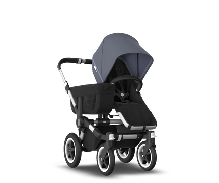 US - D2M stroller bundle aluminum, black, steel blue