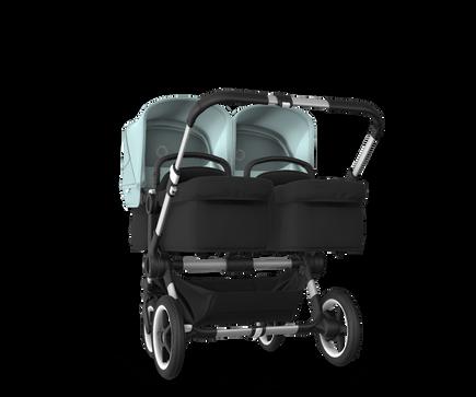 US - Bugaboo D3T stroller bundle aluminum black vapor blue