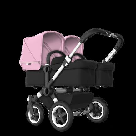 US - D2T stroller bundle aluminum, black, soft pink