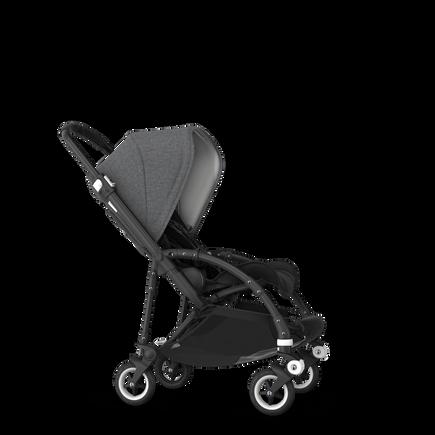 Bugaboo Bee 5 seat stroller grey melange sun canopy, black fabrics, black base