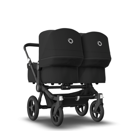 AU - Bugaboo Donkey 3 Twin Seat and Bassinet Stroller Black, Black chassis