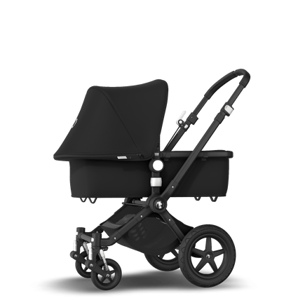 Bugaboo Cameleon 3 Plus seat and bassinet stroller black sun canopy, black fabrics, black base