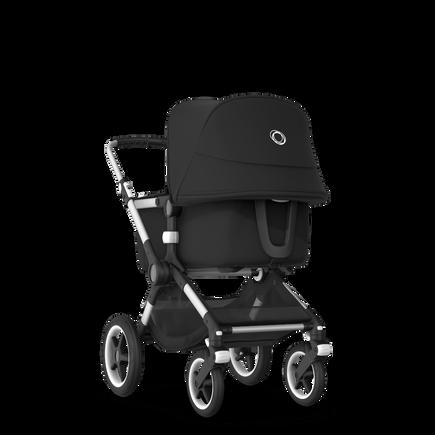 Bugaboo Fox 2 travel system black sun canopy, black fabrics, aluminium base