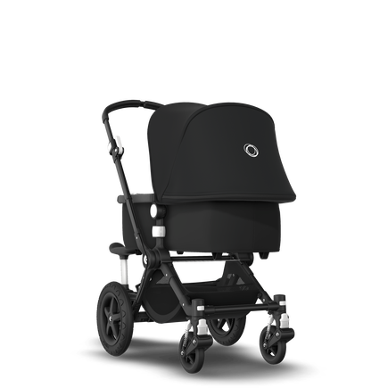 Bugaboo Cameleon 3 Plus sit and stand stroller black sun canopy, black fabrics, black base