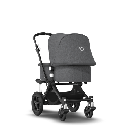 Bugaboo Cameleon 3 Plus sit and stand stroller grey melange sun canopy, grey melange fabrics, black base