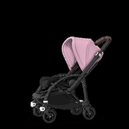 Bugaboo Bee 5 seat stroller soft pink sun canopy, black fabrics, black base
