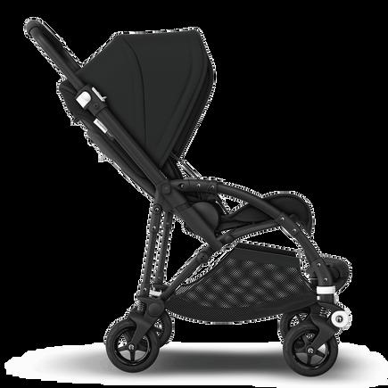 Bugaboo Bee 5 seat stroller black sun canopy, black fabrics, black base