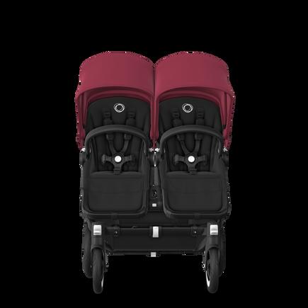 US - D2T stroller bundle black, black, ruby red
