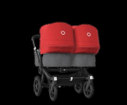 US - Bugaboo D3T stroller bundle black grey melange red