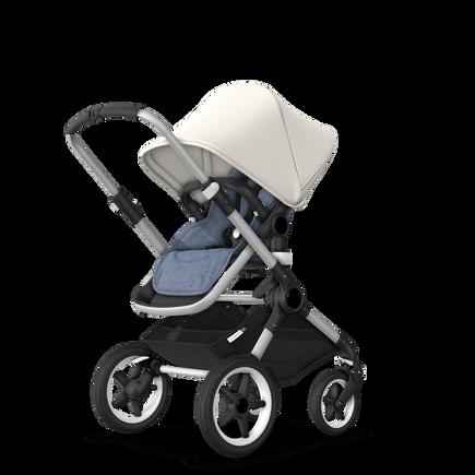 US - Bugaboo Fox stroller bundle aluminum blue melange fresh white