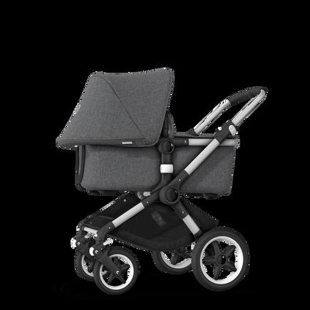 US - Bugaboo Fox stroller bundle Aluminium grey melange