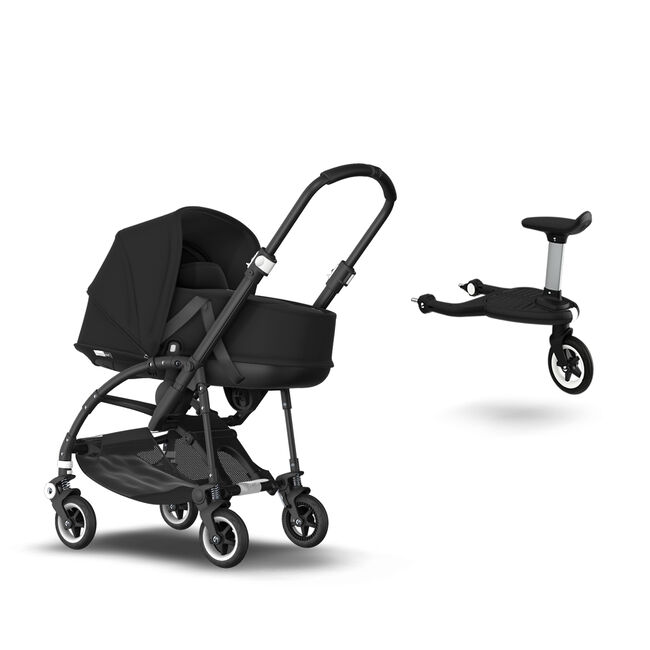 Bugaboo Bee 5 with bassinet and Wheeled board
