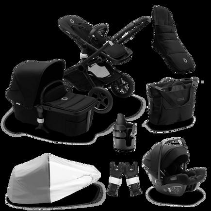 Bugaboo Fox 2 Ready to go bundle black sun canopy, black fabrics, black base