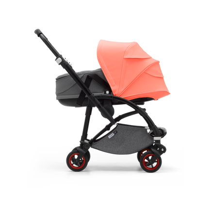 US - Bee 5 bassinet bundle Coral collection, black chassis
