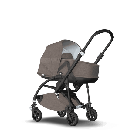 AU - Bee5 pram and bassinet Mineral Taupe, Black Chasis