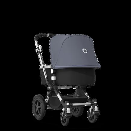 EU - Cameleon 3+ Seat and Bassinet stroller steel blue sun canopy, black fabrics, aluminium base