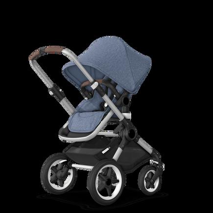 US - Bugaboo Fox stroller bundle aluminum blue melange blue melange