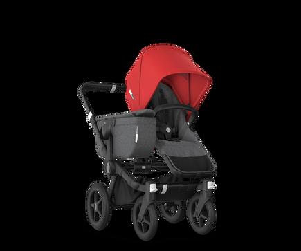 US - Bugaboo D3M stroller bundle black grey melange red