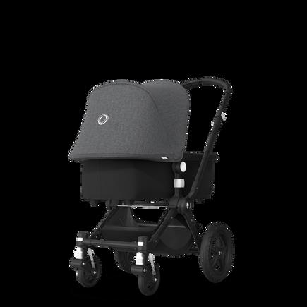 EU -Cameleon 3+ Seat and Bassinet stroller grey melange sun canopy, black fabrics, black base