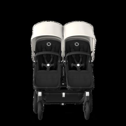 Bugaboo Donkey 3 Twin fresh white sun canopy, black seat, black chassis