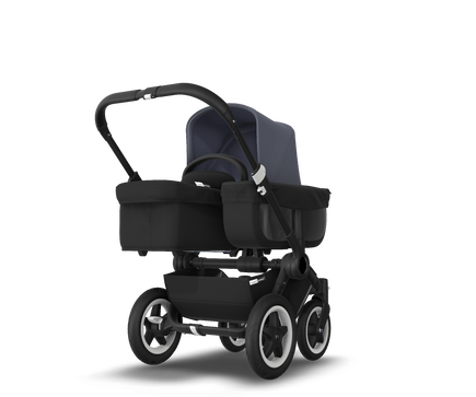 US - D2M stroller bundle, black, black, steel blue