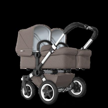 US - D2T stroller bundle aluminum, mineral taupe