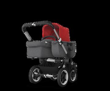 US - Bugaboo D3M stroller bundle aluminum grey melange red