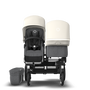 EU - Donkey 2 duo seat and bassinet stroller, fresh white sun canopy, grey melange fabrics, aluminium chassis