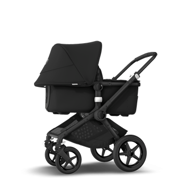Bugaboo Fox 2 seat and bassinet stroller black, black chassis