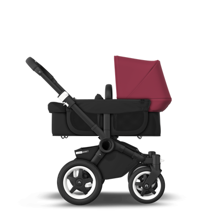 US - D2M stroller bundle black, black, ruby red