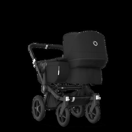 Bugaboo Donkey 3 Mono seat and bassinet stroller black sun canopy, black fabrics, black base
