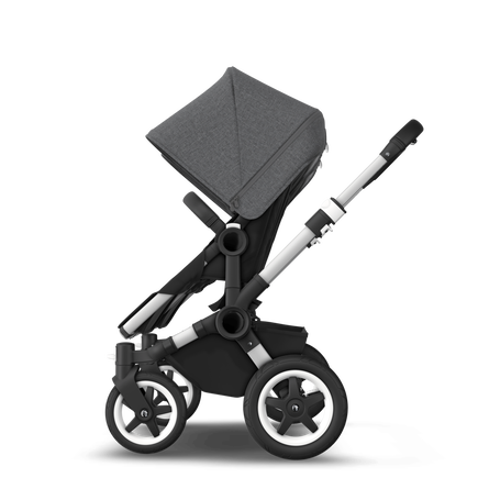US - D2T stroller bundle aluminum, black, grey melange